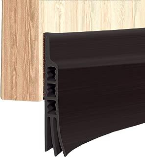 Door Strip, Upgrade Door Sweep Weather Stripping Draft Stopper Under Door Draft Blocker Door Seal Noise Stopper(Black 2