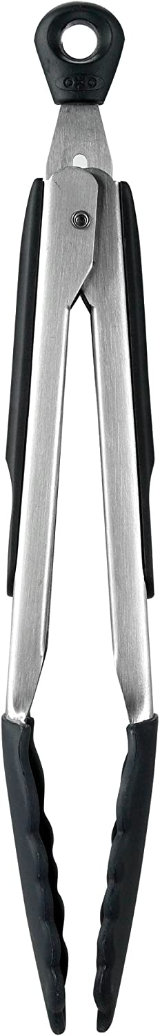 OXO Good Grips 12-Inch Tongs with Black Silicone Heads