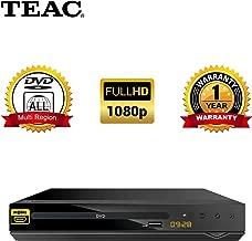 TEAC Full HD DVD Player with USB Multimedia Playback HDMI | DV450 | Multi-Region | PAL, NTSC | Hotel Lock Parental Lock Compact Design | Remote Inc.