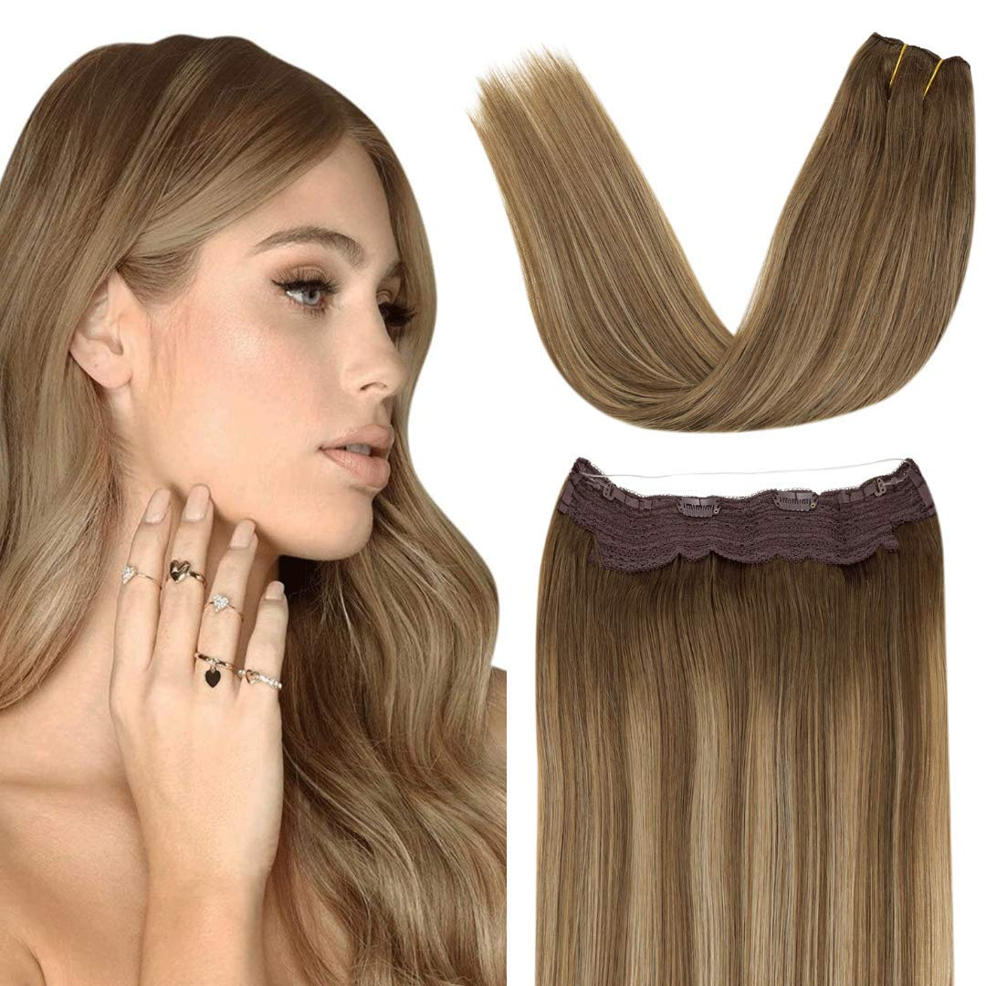 LaaVoo 20 Inch Invisible Fish Line  Hair Care Human Hair Extensions Seceret
