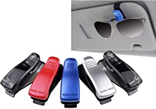 Sun Glasses / Glasses Holders for Car Visors - 5 pack - Multicolor - Perfect Storage Organizer - Easy Clip On System - Als...