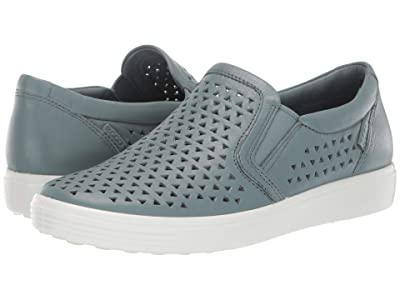 ECCO Soft 7 Laser Cut Slip-On (Trooper Cow Leather) Women