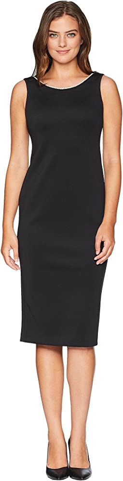 Sheath Dress with Pearl Detail CD8M19ND