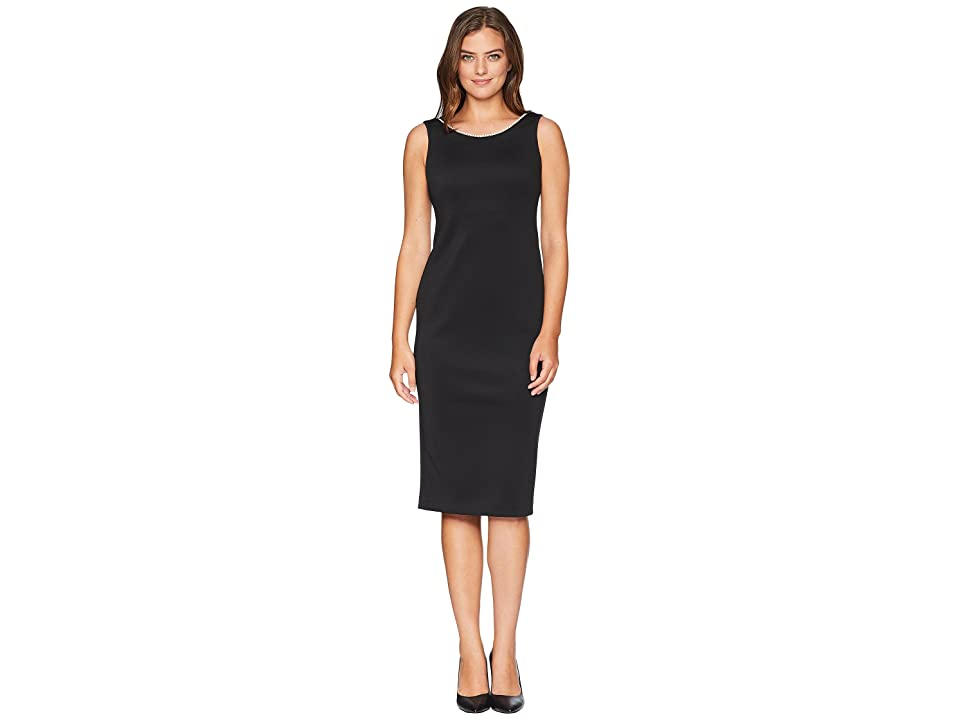 Calvin Klein Sheath Dress with Pearl Detail CD8M19ND (Black) Women
