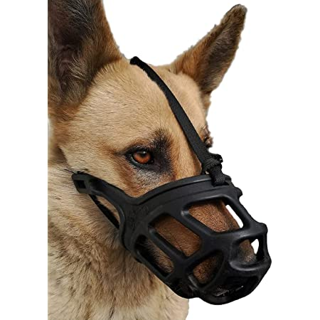 Dog Muzzle, Breathable Basket Muzzles for Small, Medium, Large and X-Large Dogs, Stop Biting, Barking and Chewing, Best for Aggressive Dogs