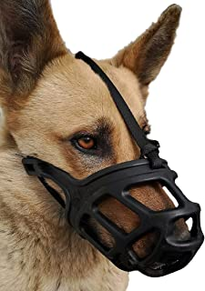 Dog Muzzle, Breathable Basket Muzzles for Small, Medium, Large and X-Large Dogs, Stop Biting, Barking and Chewing, Best fo...
