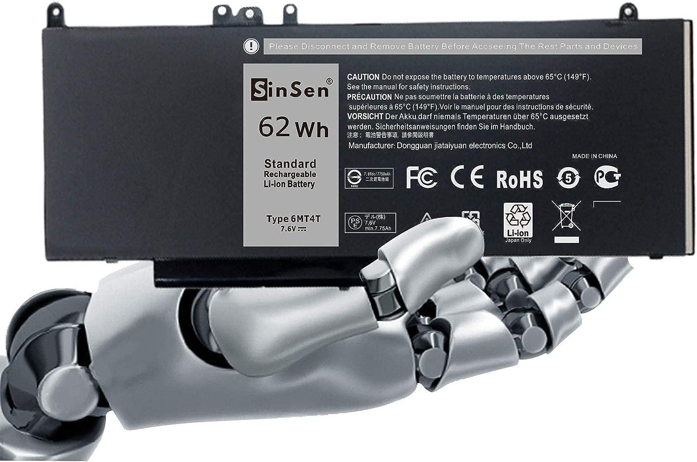 Laptop Battery for Dell,6MT4T Laptop Battery Dell Latitude E5470 Latitude E5570 Pricision 3510 Notebook PC, fits 7V69Y TXF9M 0C1P4 79VRK 07V69Y 451-BBUN 451-BBTW - [4 Cells/7.6V]
