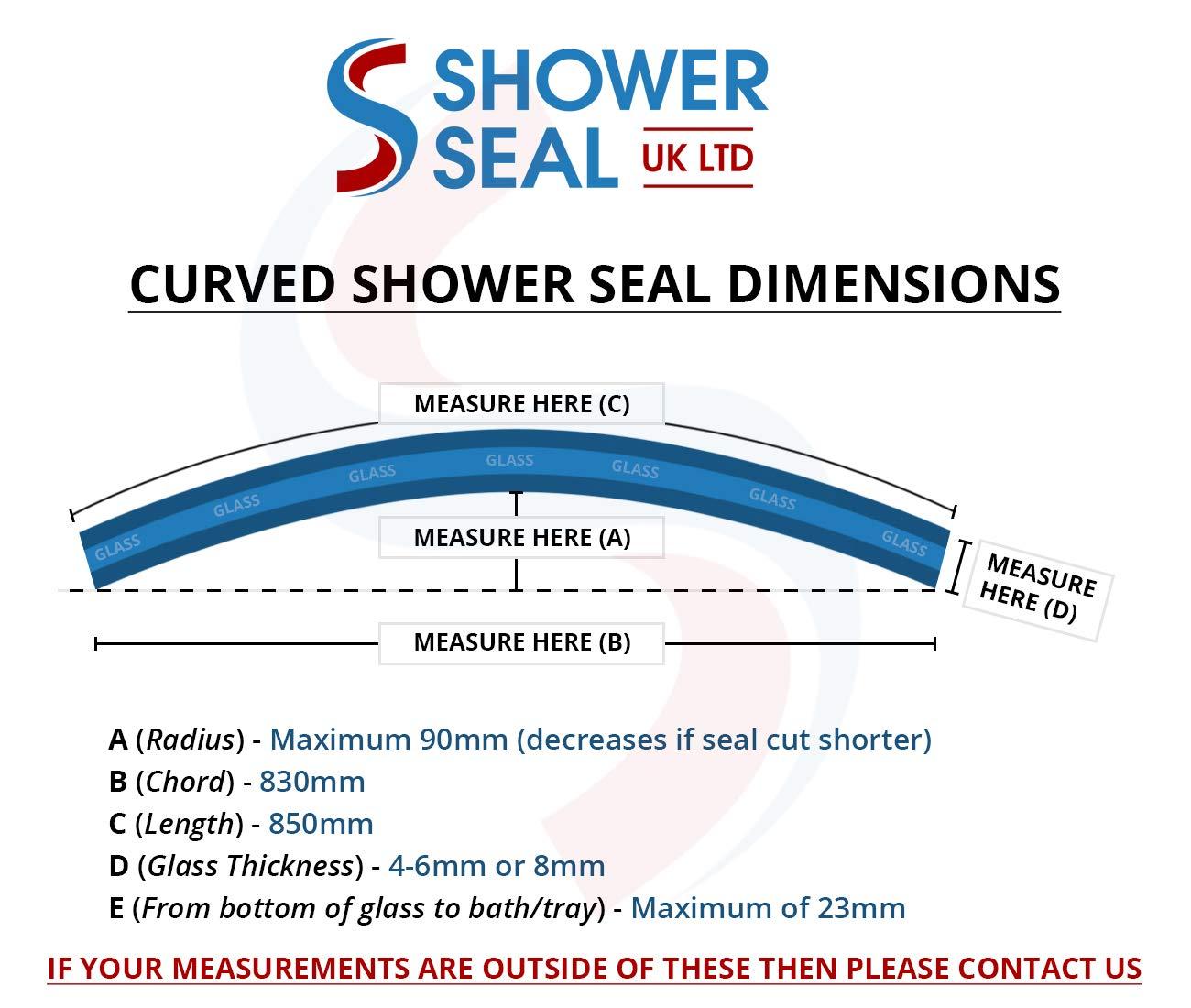 Sellador de burbujas para mampara de ducha precurvada, apto para ...