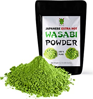 Dualspices Japanese Wasabi Powder 3.2 Oz (90 Grams) NO FILLERS - 100% Pure
