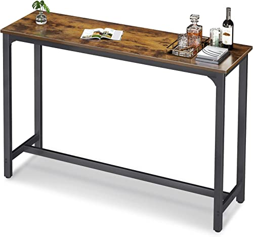 """wholesale ODK 55"""" Bar Table, Bar Height Pub Table, Rectangular High Top Kitchen & Dining Tables with Sturdy Legs & popular Easy-to-Clean Top & online sale 10 Min Quick Assembly, Indoor use, Rustic Brown sale"""