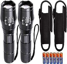 LED zaklamp Zoom met Holster Set / 2 stuks extreem helder 1000 lumen Cree Led T6 zaklampen kleine mini handlamp campinglam...