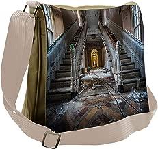 Ambesonne Vintage Messenger Bag, Abandoned Opera House, Unisex Cross-body