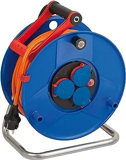 Brennenstuhl Garant IP44 Kabeltrommel 40m Kabel in orange, Spezialkunststoff, Einsatz im Außenbereich, Made in Germany