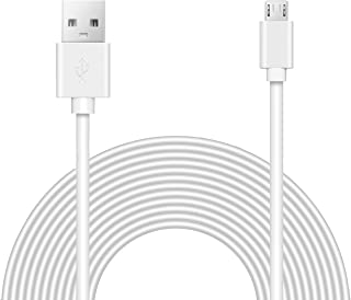 15ft Power Extension Cable for Wyze Cam Pan, Playstation Classic, Kasa Cam, Blink Camera.