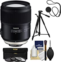Tamron SP 35mm f/1.4 Di USD Lens with UV/CPL/ND8 Filters + Tripod Kit for Nikon DSLR Cameras