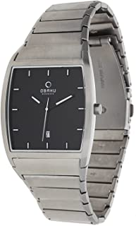 Obaku Men's Black Dial Stainless Steel Band Watch - V142GCBSC