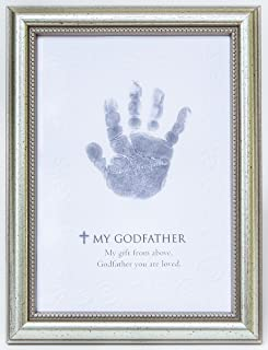 The Grandparent Gift Frame Wall Decor, Godfather Handprint