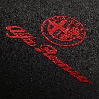 bestickt Auto-Fu/ßmatten-Set Color-Line ND rot Il Tappeto Auto