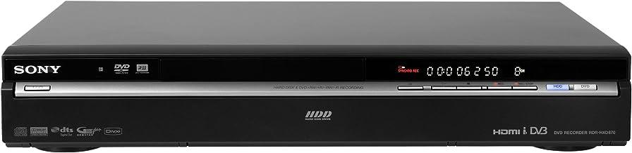Sony RDR-HXD870B Graveur HDD 160Go HDMI avec tunerTNT USB Noir