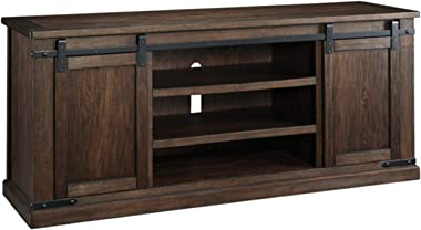 Signature Design by Ashley Budmore Extra Large TV Stand Rustic Brown