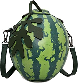 MILATA Watermelon Shaped Women's Crossbody Bag Shoulder Bag PU Leather Clutch Bag Purse