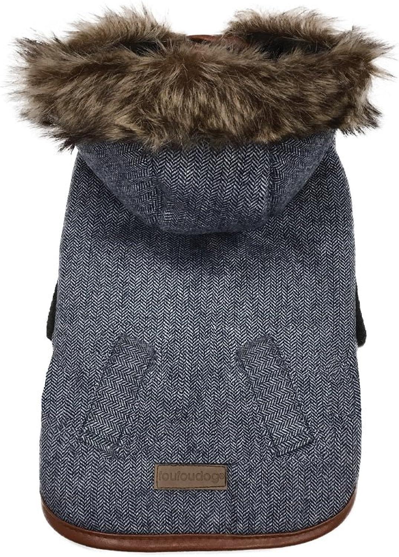 FouFou Dog 63059 Chelsea Coat for Dogs, XXLarge, Denim bluee