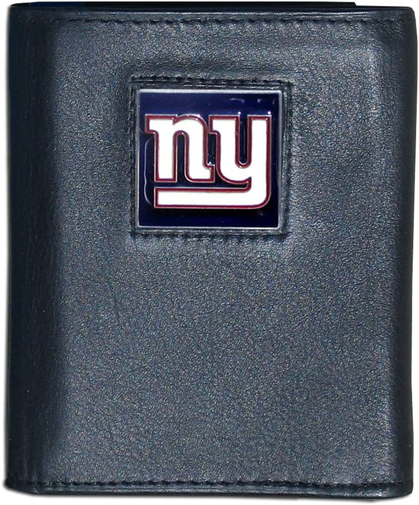 Siskiyou NFL Ranking Boston Mall TOP13 New York Giants Black Leather Tri-Fold Wallet