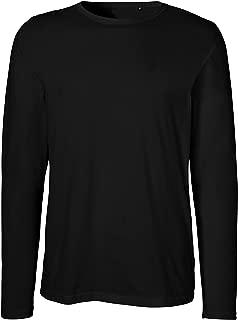 Green Cat Neutral Mens Long Sleeve T-Shirt, 100% Organic Cotton Fairtrade Certified