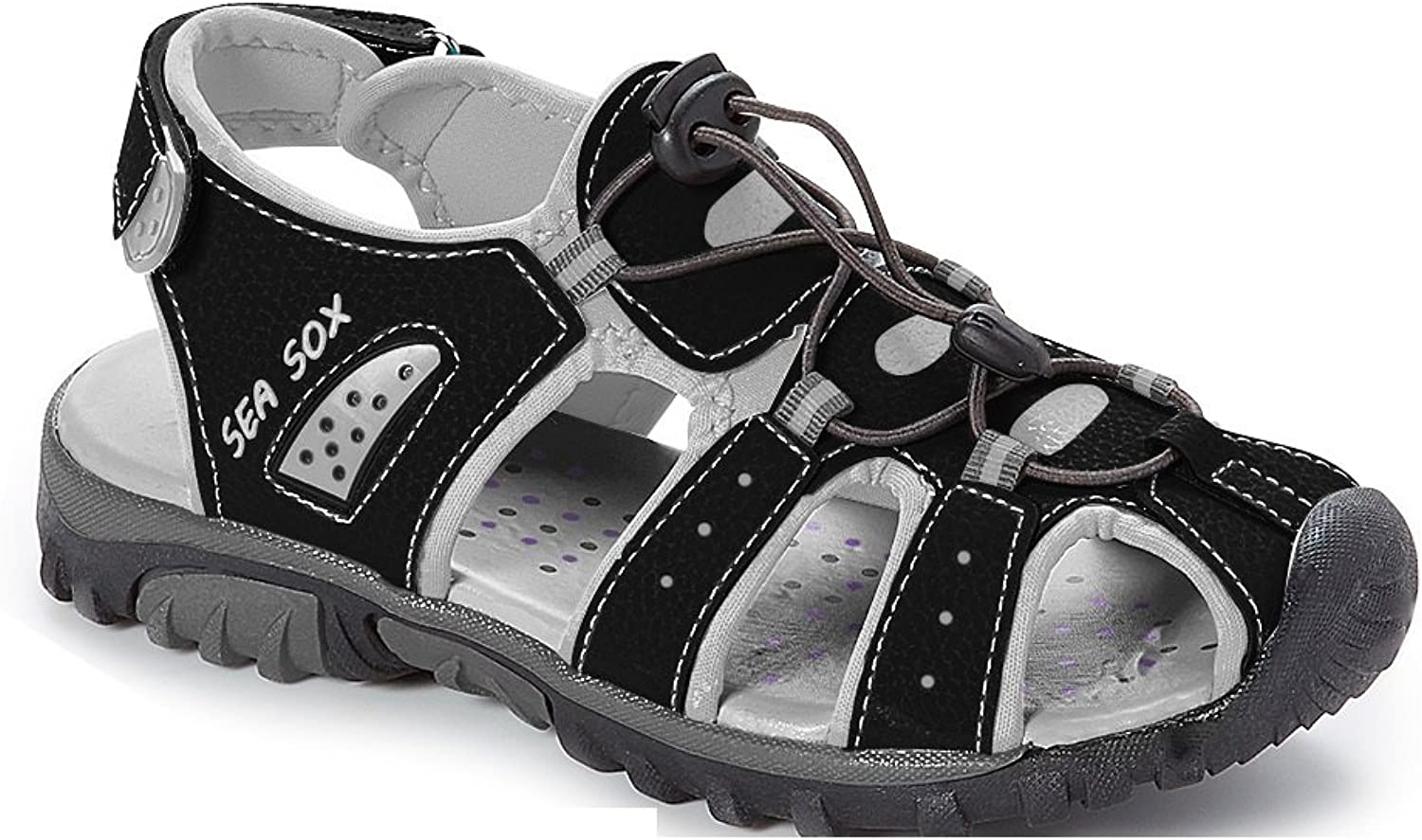 WETIKE Kids Sandals Closed-Toe Outdoor Sport Sandals for Girls Summer Beach Two Straps Boys Sandals Leather Toddler//Little Kid//Big Kid