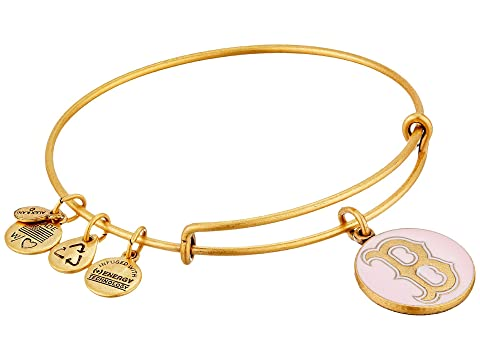 Pink Boston Red Sox™ Cap Logo Charm Bangle, Rafaelian Gold Finish