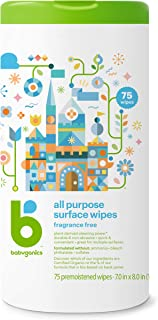 Babyganics All Purpose Wipes, Fragrance Free, 75 Count