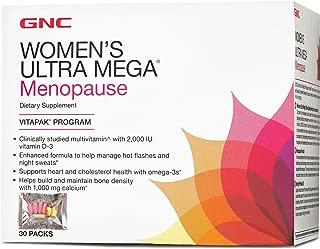 GNC Womens Ultra Mega Menopause Vitapak Program, 30 Packets