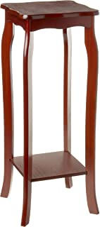 Frenchi Home Furnishing 2 Tier Plant Stand, Mahogany