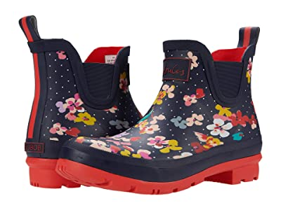 Joules Wellibob Chelsea Boot (Navy Blossom Spot) Women
