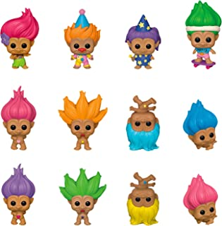 Funko Mystery Mini: Good Luck Trolls, One Mystery,12 Piece PDQ, One Mystery, Action Figure - 46207