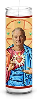 Bill Murray Celebrity Prayer Candle - Funny Saint Candle - 8 inch Glass Prayer Votive - 100% Handmade in USA - Novelty Celebrity Gift (Bill Murray)