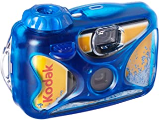 Kodak Sport Single Use Camera, Waterproof up to 15m! 27 Exposures- 8004707, Blue, 2.10 x 4.70 x 5.20 inches