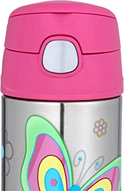 Thermos 355ml FUNtainer Vacuum Insulated Drink Bottle - Butterfly, pink (F4011BK6AUS)