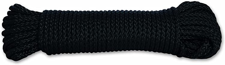Chapuis FDC9 gevlochten polypropyleen touw - 100 kg - diameter 2,8 mm - lengte 10 m - zwart