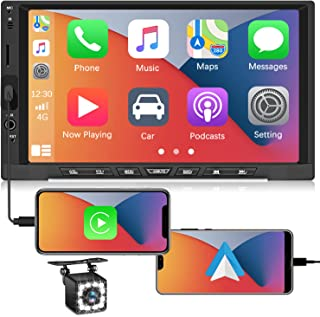 $98 » Double Din Apple Carplay Stereo Car Audio Receiver 7 Inch Touch Screen Car Stereo Bluetooth Car Radio with Android Auto Ca...