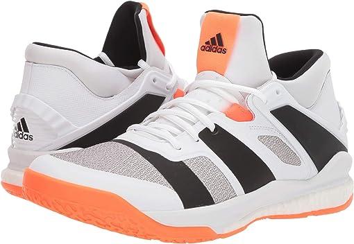 Footwear White/Core Black/Solar Orange