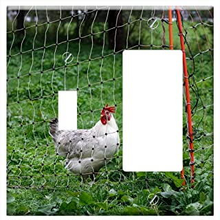 1-Toggle 1-Rocker/GFCI Combination Wall Plate Cover - Bio Chicken Permaculture Animal World Farm He