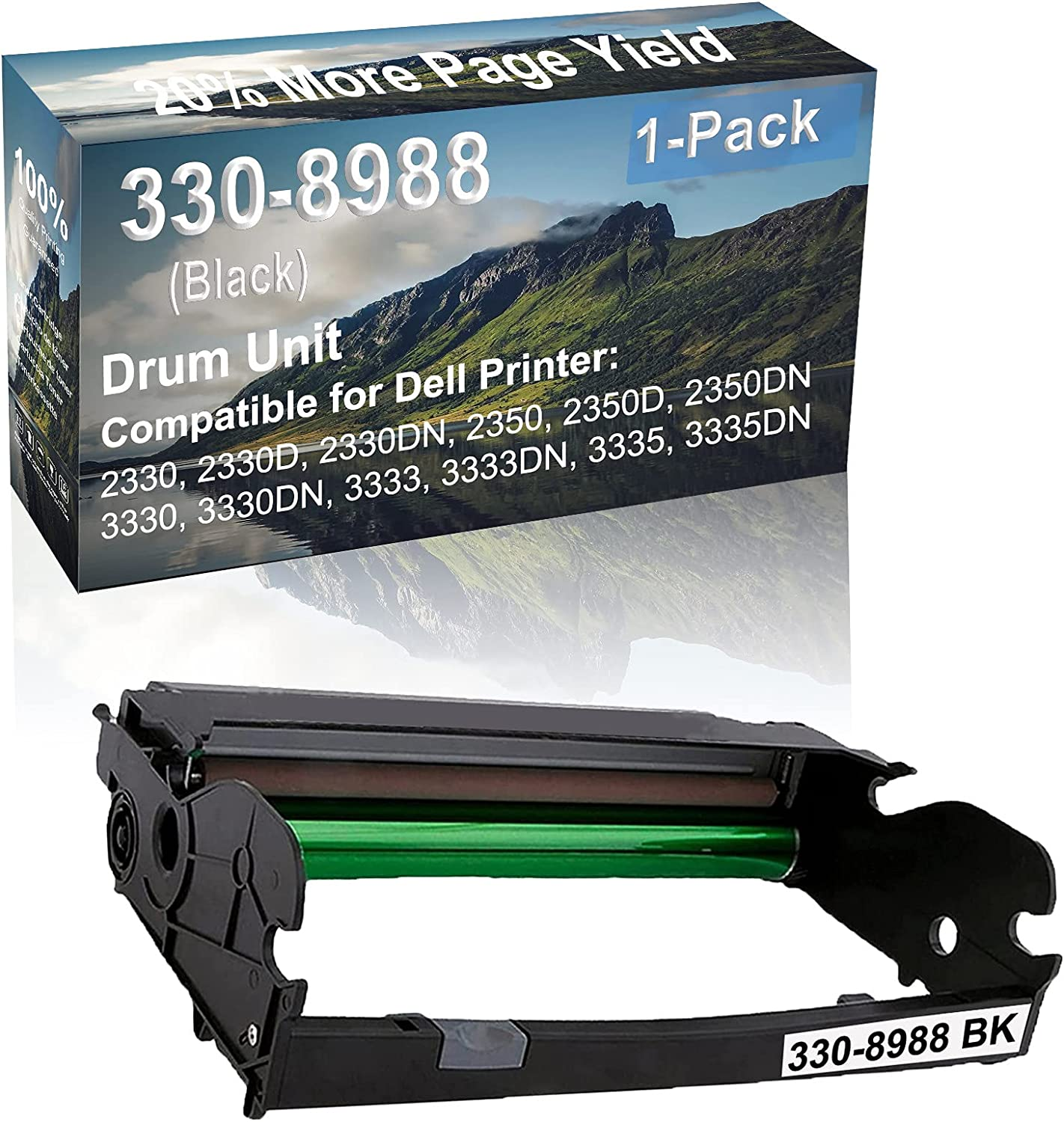 1-Pack Compatible 330-8988 Drum Kit use for Dell 2330, 2330D, 2330DN, 2350 Printer (Black)