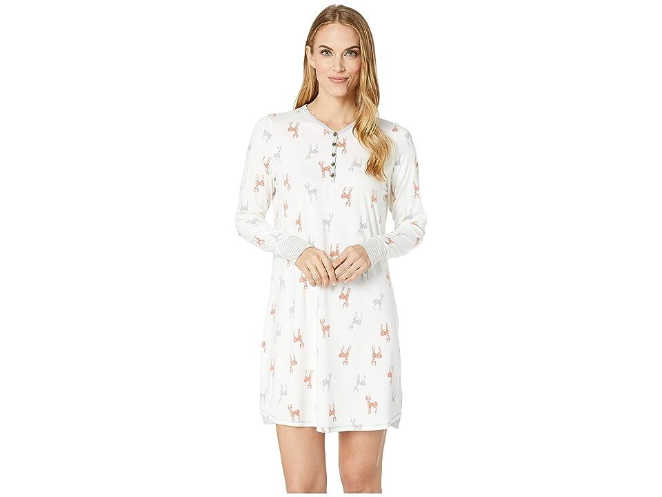 Aventura Clothing Deer Night Shirt (Whisper White) Women