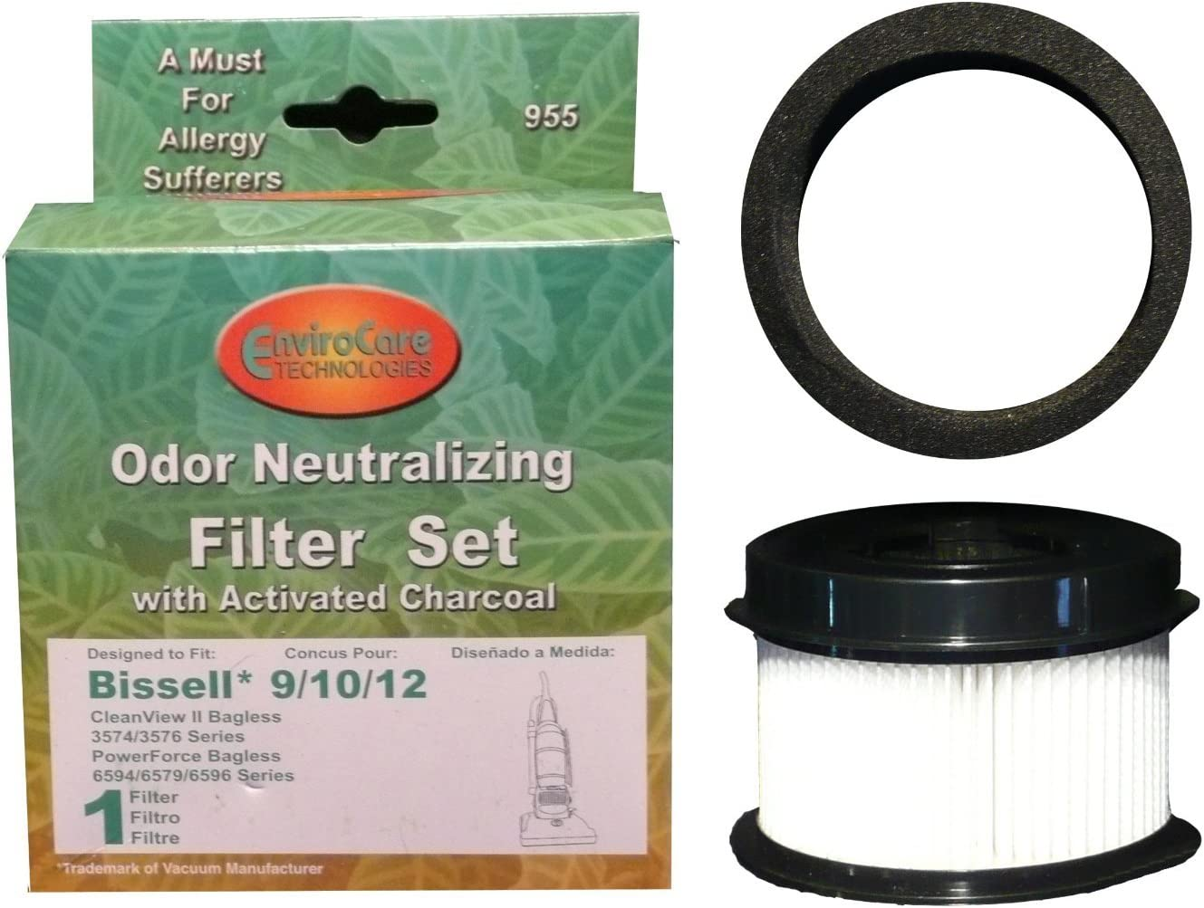 10 /& 12,Replace Part # 2031085ES 203108532065,2031183,32064 /& 32065 2 Replacement Foam /& Filter Compatible for Style 9