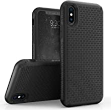 Zizo Echo Series Compatible with iPhone X Case Dual Layered TPU and PC with Anti Slip Grip iPhone Xs case Black