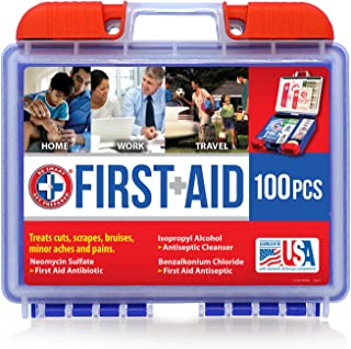 Be Smart Get Prepared 10HBC01082 100Piece First Aid Kit, Clean, Treat & Protect Most..
