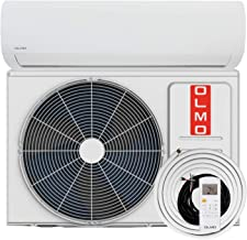 "OLMO Alpic Ductless Mini Split Air Conditioner 12,000 BTU 115v/60hz 16 SEER with 16' installation kit"""