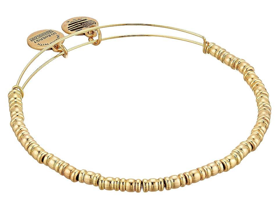 Alex and Ani Rocker Bangle Bracelet (Shiny Gold) Bracelet