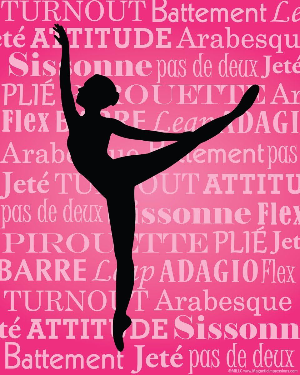 "Unframed Ballet Dancer Arabesque 8"" x 10"" Sport Poster"